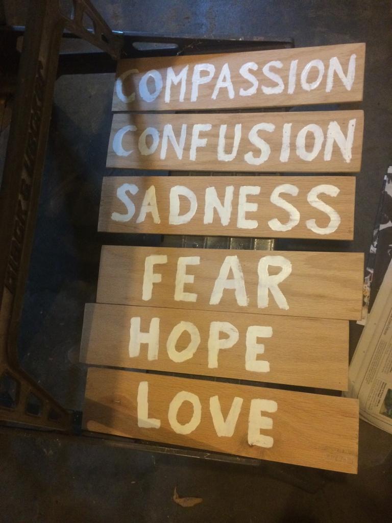 Words, emotions, ideas